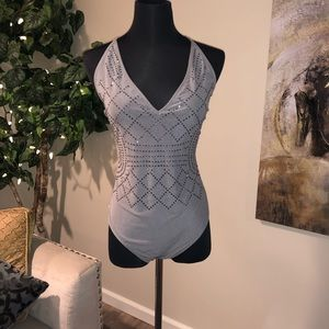 Pewter body suit
